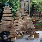 Reclaimed wood pallet Christmas trees