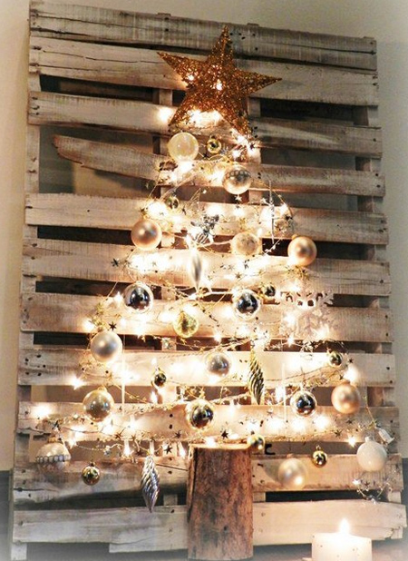 reclaimed wood pallet christmas trees to make