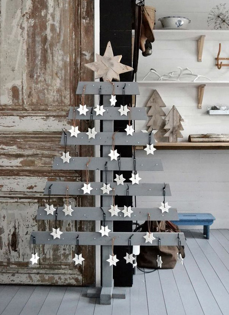Home dzine diy reclaimed wood pallet christmas trees