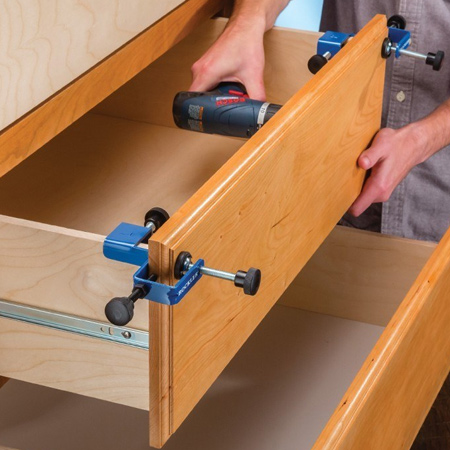 Drawer front clamps from Tork Craft