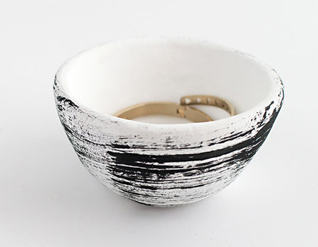 Air-dry decorative clay bowl