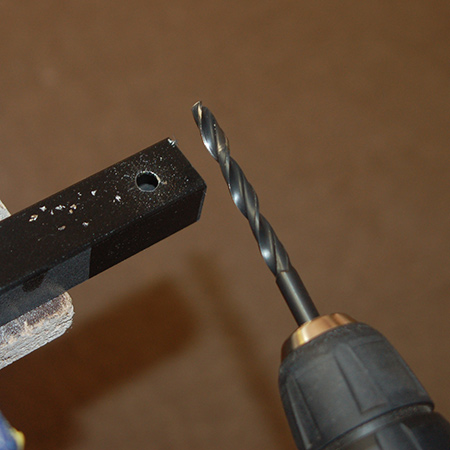 Use a quality HSS bit for drilling holes. These might cost more upfront, but not only will they last longer than cheaper bits, they also make drilling through steel quick and easy