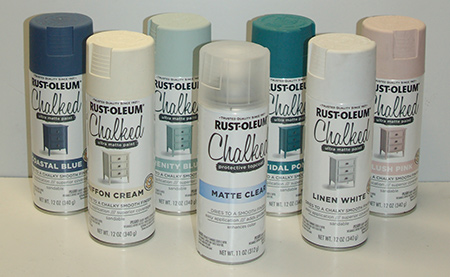 HOME-DZINE | Rust-Oleum Chalked spray paint for an easy way to add a chalk finish