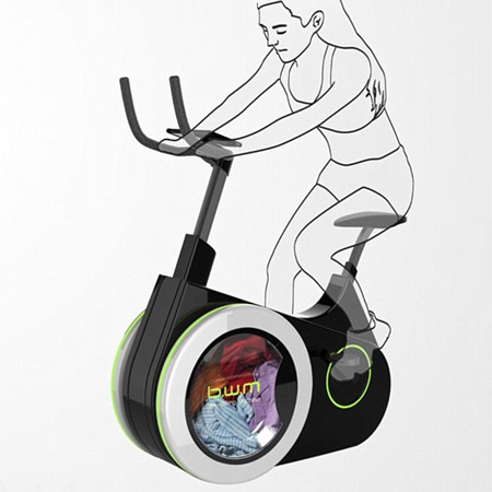 Now you can exercise and do your laundry at the same time with the Bike Washing Machine.