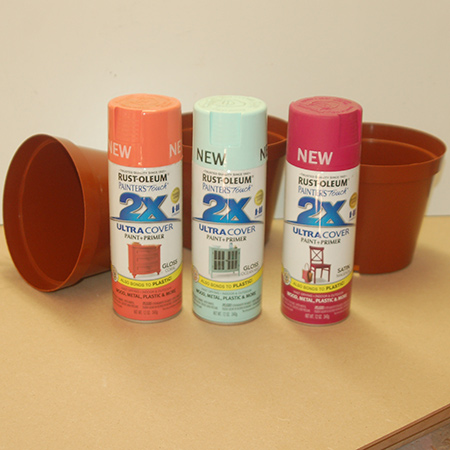 Rust-Oleum recently added three new trendy colours to their 2X spray paint range