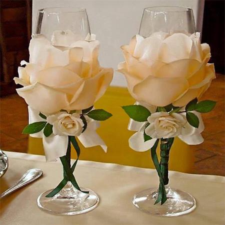 Цветы своими руками стакан