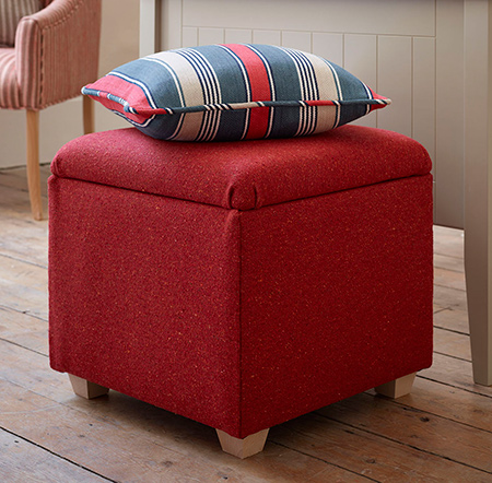 In October this year, the DIY Kids Jamie and Jessie learned how to make an upholstered storage ottoman using a Drill / Driver and Bosch Tacker