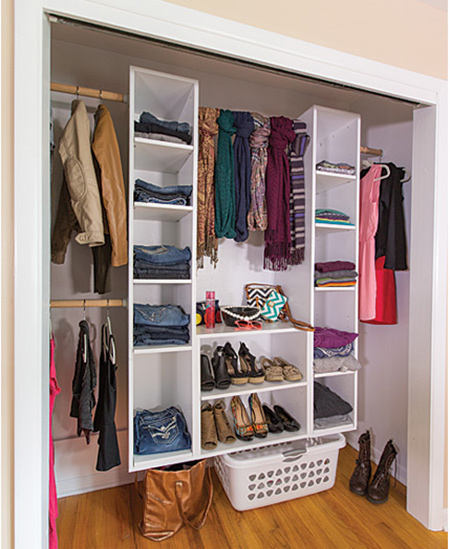 Use SupaWood Or SupaLam To Make This Practical Storage Closet That Can Be Mounted Inside An Existing Frame Onto A Wall