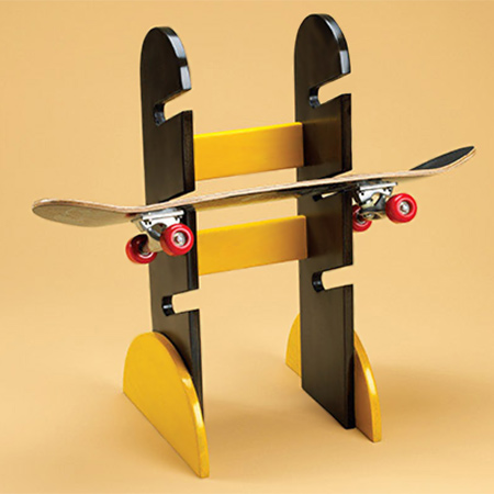 Make This Skateboard Rack For Your Kids, Or Itu0027s A Great Gift Idea. We  Sprayed Ours With Rust Oleum 2X Spray Paint.