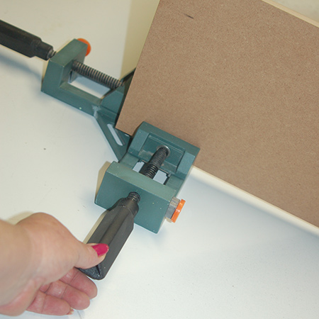 When working on your own, Tork Craft adjustable corner clamps are like an extra pair of hands.