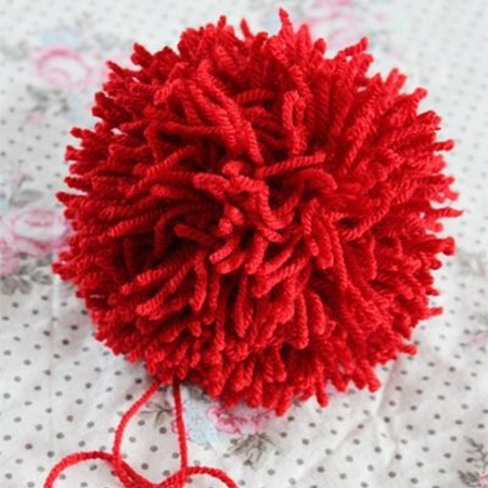 How to make extra large pom-poms