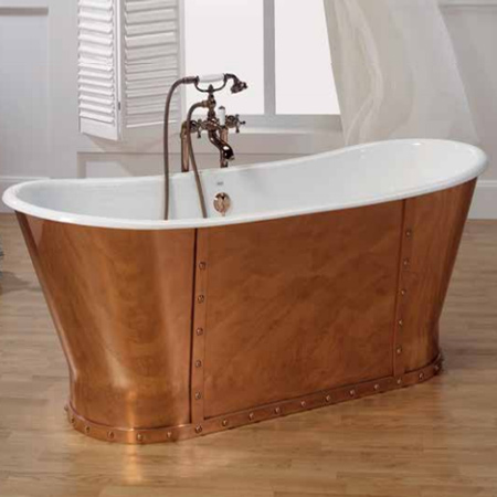 HOME DZINE Bathrooms | Luxurious copper, brass, cast iron and mosaic ...