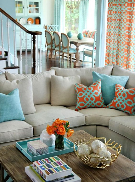 Home Dzine Summer Colour Coral And Teal