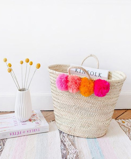 There are also so many ways to use pom-poms to embellish personal gifts