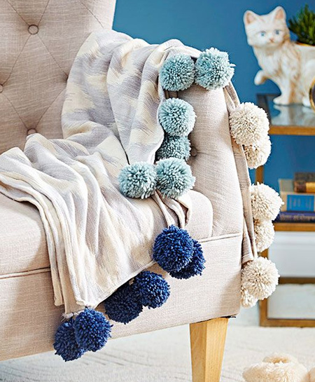 There are also so many ways to use pom-poms to embellish personal gifts for any occasion