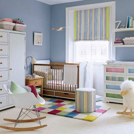 Before the baby arrives it is recommended that you do any painting in the room well in advance. While today's paints may contain less smelly VOC's, they still have some smell, and you want paint to be thoroughly dry and the room smell-free in time. Try to have any painting done at least a month before the baby is due, but longer if possible.