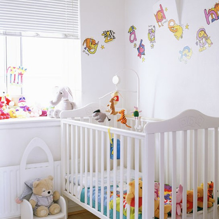 Furnishing a nursery doesn't have to cost  fortune - save money by buying second-hand furniture revamping with a lick of paint