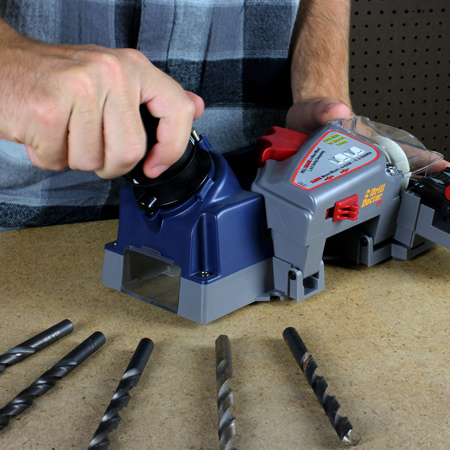 Drill bit sharpening systems