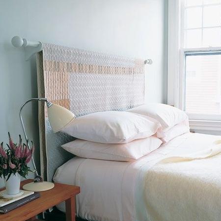 Home dzine bedrooms easy diy headboard ideas for Simple diy headboard