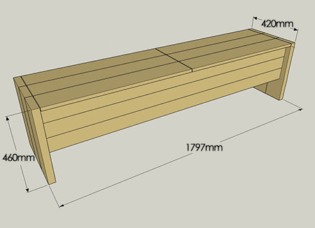 The storage bench is made from 22mm PAR pine that you will find at your local Builders Warehouse and is assembled using a Kreg Pockethole Jig.