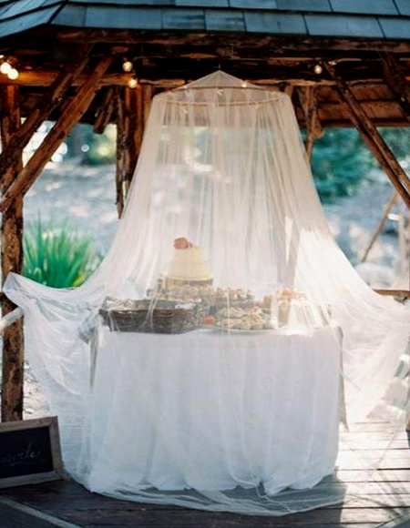 Use affordable mosquito nets to add a romantic touch to your outdoor living areas or keep hungry mozzies at bay.