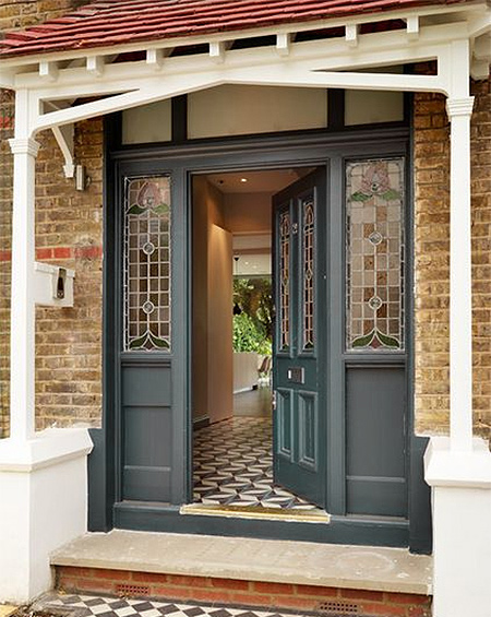 Give your home curb appeal with Woodoc Colours - Summer Storm. Exterior Doors are protected from the elements and look stunning.