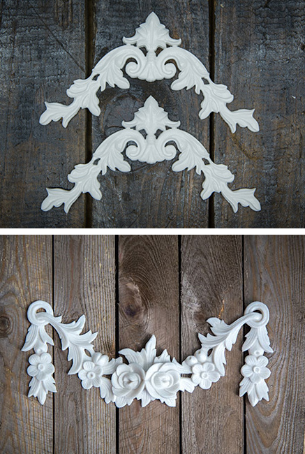 Now you can buy Shabby Chic onlays, embellishments, swags and pediments from a local manufacturer. Established out of the frustration of not being able to source items locally, www.RusticBling.co.za started carving and making their own moulds for a wide range of Shabby Chic decorations.