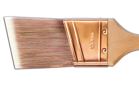 A narrow sash brush is best for painting windows and easier to control than a wider flat brush. And the angled bristles are designed to neatly apply paint in tight corners and small spaces on a window.