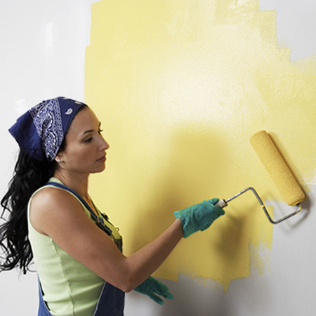 If you are tackling painting projects, it's a good idea to don a scarf or cap to protect your hair from paint spatter - and to wear disposable gloves when using oil-based enamel paint, stain, sealer or varnish.