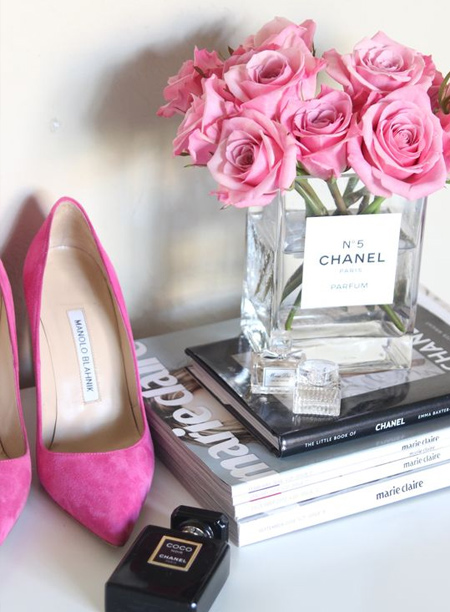 mothers day gift idea - chanel glass vase