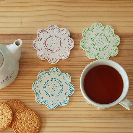Make a set of colourful coasters using air-dry clay and Sharpie pens. Easy to make, you can make them for yourself - or as a gift.