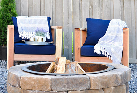 HOME-DZINE - DIY Furniture - Made of pine, these comfortable DIY garden chairs are easy to make for a deck or patio, or just for lounging in the garden.