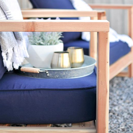 HOME-DZINE - DIY Furniture - Make a set of DIY pine garden chairs for relaxing outdoors during the summer months.