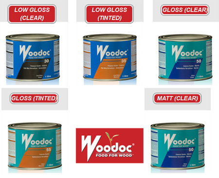 Choose from the range of Woodoc Exterior Sealers in matt, low gloss and gloss in clear or tinted finishes and follow the recommended guidelines on the tin for proper application.