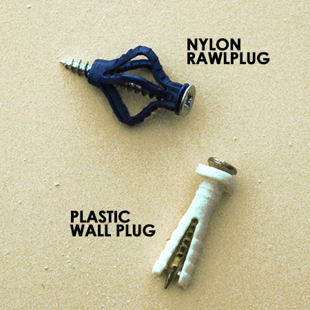 For most plastic wall plugs, even the design lets them down before the heat has chance to make them go soft. The [plastic] wall plug splits in half, and the two sides open the grip the wall. You can imagine that it sounds like a soft fizzle.