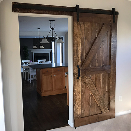 HOME-DZINE - DIY Projects - After featuring an article on where you can buy sliding barn door hardware, I have received numerous enquiries for instructions on how to make a barn door, and how to mount a DIY barn door. Here's how...