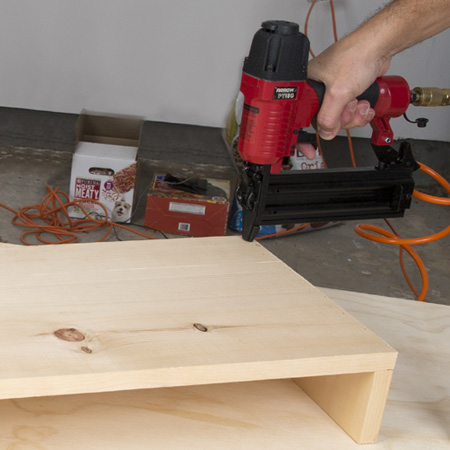 Use a brad nailer to join togethe small or decorative DIY projects.