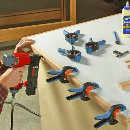 Use a brad nailer to add trimming, moulding or edging to your DIY projects.