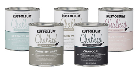 HOME-DZINE | Rust-Oleum Chalked Ultra Matt chalk paint finish