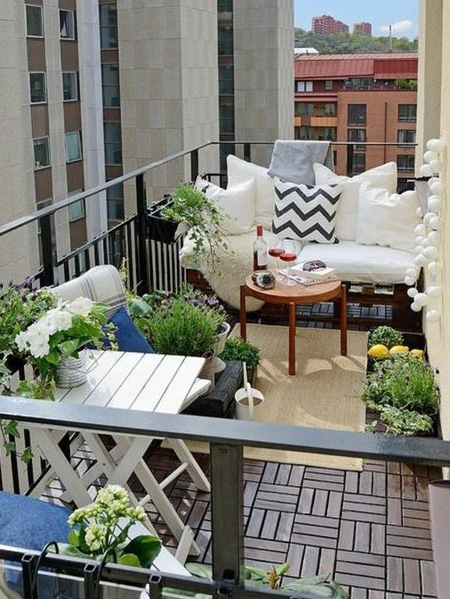 HOME-DZINE | Outdoor Rooms - Shop wisely for pieces that are practical for your balcony. Make sure that chairs or tables don't take up too much space - with little left over to move around - and possibly look for furniture that folds up when not in use.