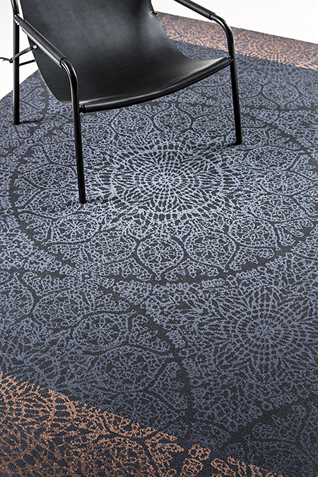 The new rug collection comprises four beautiful bespoke designs