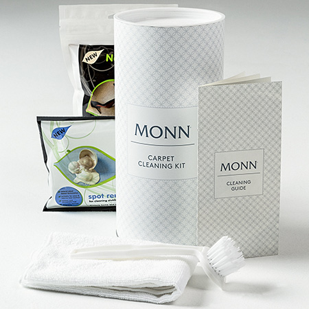 To ensure that MONN products retain their original quality appearance for longer, the company has introduced a MONN Carpet Cleaning Kit, featuring specialised products that are imported from the UK. These kits are WoolSafe certified and come fully equipped with a brush, carpet wipes, general solution, stain solution and comprehensive instruction guide.