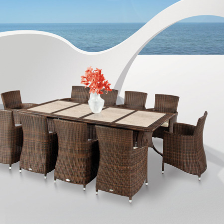 HOME-DZINE | Outdoor Furniture - Engineered rattan or wicker offers unparalleled style and value for outdoors.