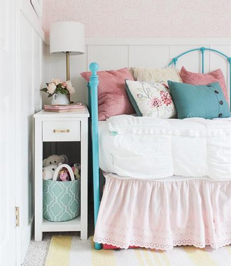 HOME-DZINE - DIY Projects - DIY nightstand for a small bedroom