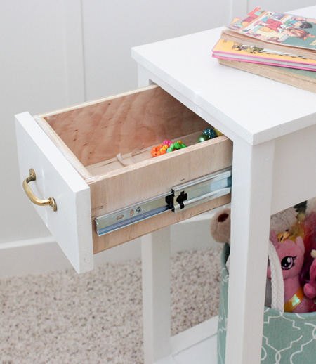 HOME-DZINE - DIY Projects - The design for the nighstand features a drawer at the front, on ballbearing drawer sliders, because every bedroom needs that extra bit of storage.