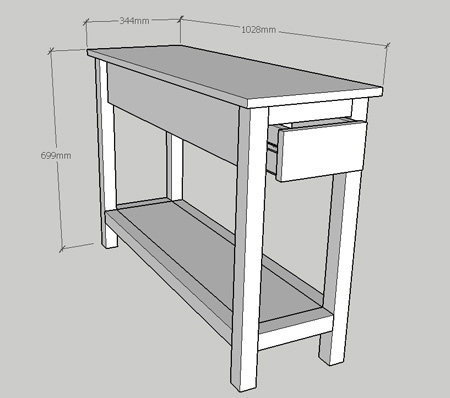 DIY nightstand for a small bedroom