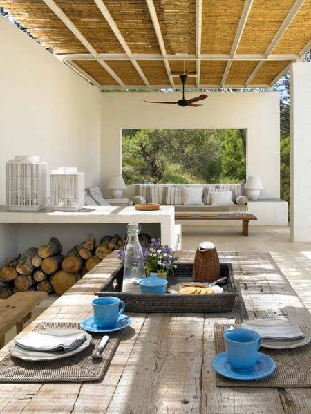 HOME-DZINE | Outdoor Rooms - If you have an outdoor space that can easily accommodate a living and dining room space with room to spare, and you're unsure of how to properly fill out the space, take your cues from your indoor living area - designing a space that serves as a retreat.