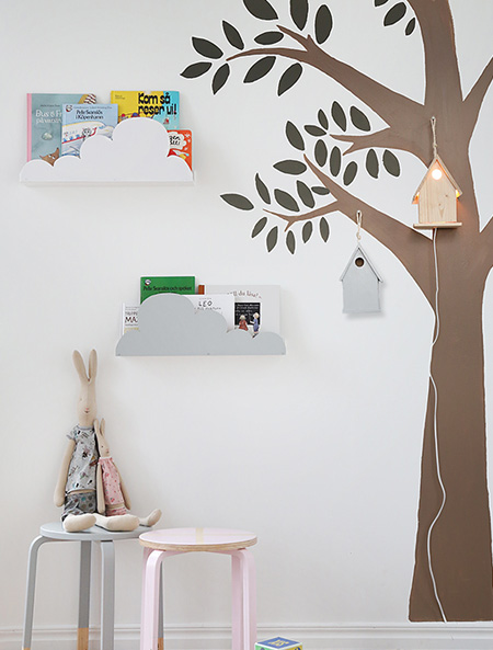 HOME-DZINE | Cloud Decor - Here's a nifty - and easy - way to add clouds to a kids' bedroom in more ways than one - for fun!