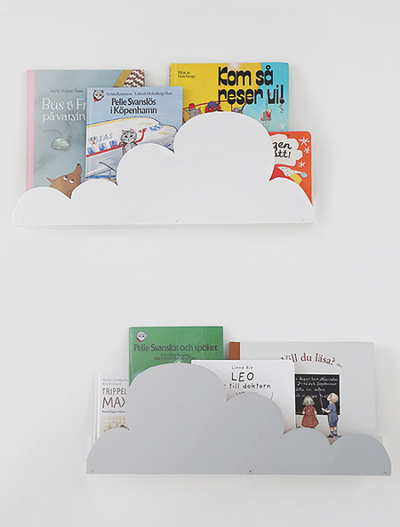 HOME-DZINE | Cloud Decor - Paint the finished cloud shelves with Rust-Oleum Chalked ultra matte paint for a super flat, matt finish that's perfect for a cloudy wall shelf.