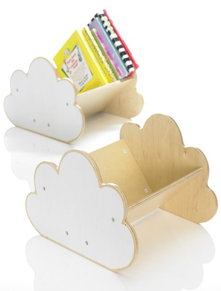 HOME-DZINE | Cloud Decor - Add even more cloud decor with a plywood  cloud book caddy.